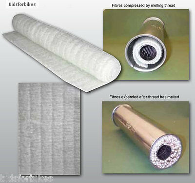 MOTORCYCLE MOTORBIKE EXHAUST END CAN SOUND SILENCING PACKING SHEET - 350mm * 1m