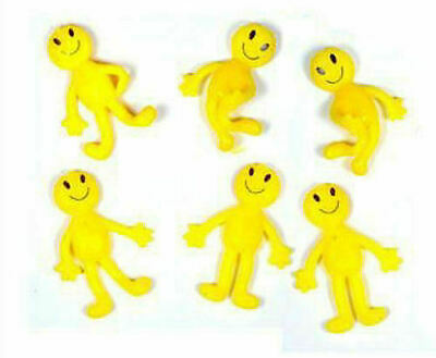 6 Stretchy Smiley Men - Pinata Toy Loot/Party Bag Fillers Wedding/Kids
