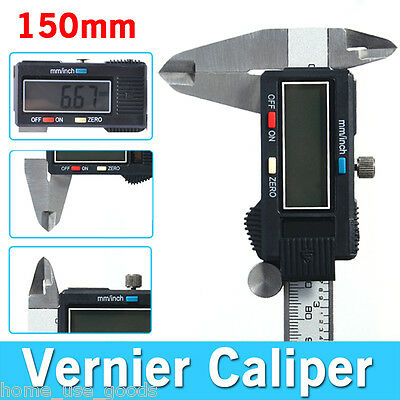 "6"" 150mm Depth Digital Vernier Caliper Gauge Electronic Micrometer Measurement"
