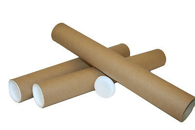 A1 A2 A3 A4 Bulk Postal Tubes Packing Tubes + End Caps Many Sizes Poster Tubes