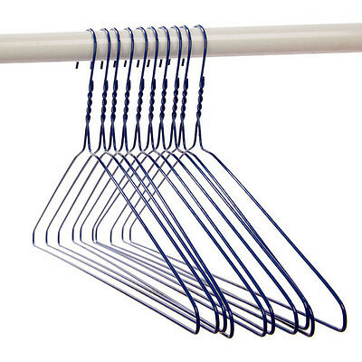 50pcs SILVER METAL WIRE COAT SUIT CLOTHES HANGERS WARDROBE STORAGE