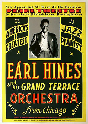 Earl Hines Grand Terrace Jazz 17x24 POSTER RARE Philadelphia Two And A Half Men