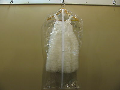 Garment Bag Suit / Dress STORAGE Clear vinyl full zipper cocktail short dress