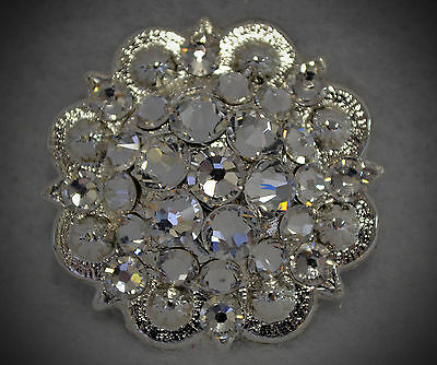Crystal Berry Concho ~ Handcrafted with Clear Crystal  Swarovski Elements