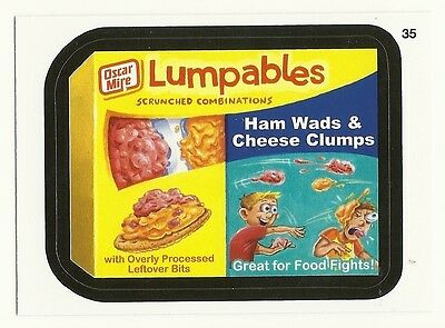 WACKY PACKAGES SERIES #9 - LUMPABLES FOOD TRAY - STICKER #35 - MINT!!