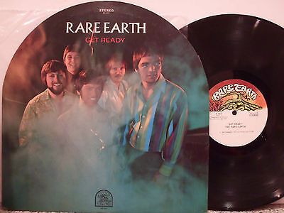 RARE EARTH Get Ready 1969 ORIG USA TOMBSTONE ROUND COVER  PSYCH  LP