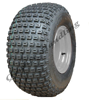 18x9.50-8 knobby tyre on ball bearing rim - ATV trailer - quad wheel