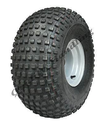 22x11.00 - 8  knobby tyre on ball bearing rim - ATV trailer - quad wheel