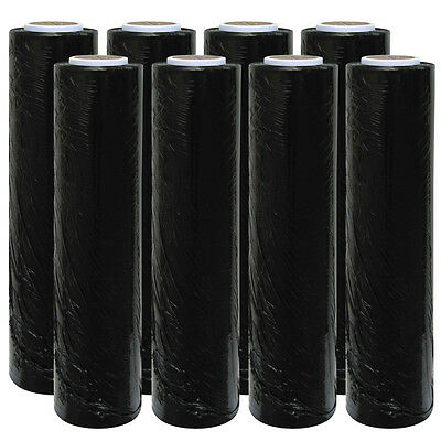 6 X Strong Rolls Black Pallet Stretch Shrink Wrap Cast Parcel Packing Cling Film