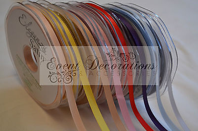 6Mm Eleganza Double Faced Satin Ribbon In 30 Colours, 20M Long, Great Value!