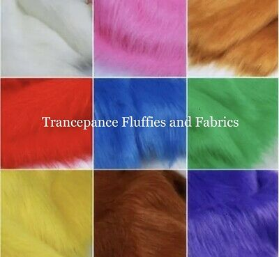 Luxury Long Hair Faux Fur Fabric Material - Various sizes & Colours