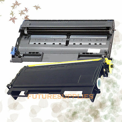 2P Brother 1 TN350 + 1 DR350 Compatible Toner & Drum HL-2040 HL-2070N DCP-7020