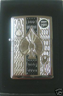 Zippo Ace of Spades High Polish Chrome Lighter 24196