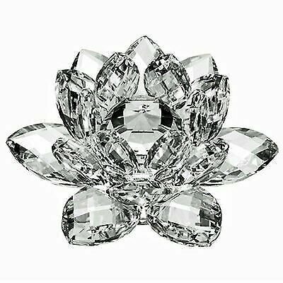 High Quality 5 inch Clear Crystal Lotus with Gift Box