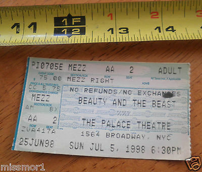 Beauty and the Beast Broadway Theatre Ticket Palace New York NICE! 1994