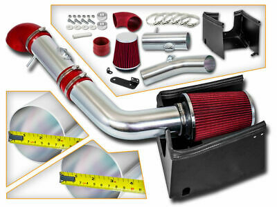 Cold Heat Shield Air Intake + RED Filter for 05-08 F150 Pickup 5.4L V8