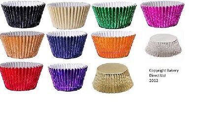 104 Foil metalic cupcake/muffin cases Free postage and packing