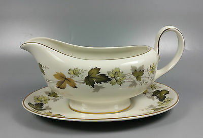 Royal Doulton Larchmont Tc1019 Gravy / Sauce Boat And Stand (Perfect)