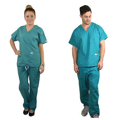 Unisex ScrubShine Medical Scrubs Set/ Uniform Nurse/ Vet/ Doctor- BN Choose Size