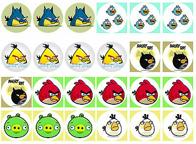 Angry Birds Cupcake Edible Icing Party Cake Topper Decoration Image Custom