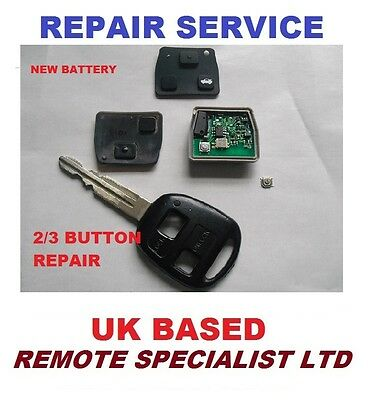 Toyota 2 Button  Remote Key Repair Service Micro Switches Faulty  Fix