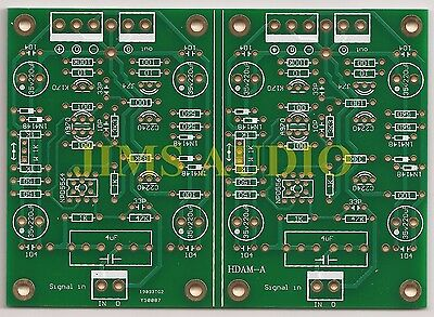 J-FET input discrete opamp high current amplifier stereo PCB !