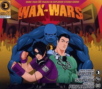 Wax Wars -  3-cd   mixed by Simon Dunmore, Brian Tappert and Jamie Lewis
