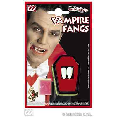 Denti Canini Dracula Vampiro Twilight Trucco Viso Make Up Halloween 4097D