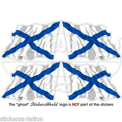 "RUSSIA Russian Naval Ensign Flying Flag 50mm (2"") Vinyl Stickers, Decals x4"