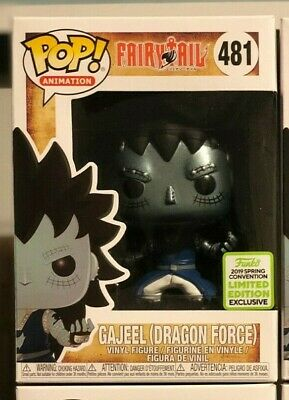 Funko Pop! Fairy Tail Gajeel with Dragons Scale ECCC 2019 Shared Exclusive Mint