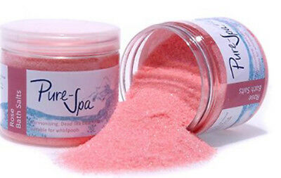Pure Spa 100% Natural Dead Sea Bath Salts Rose for Whirlpools and Spa Baths 250g