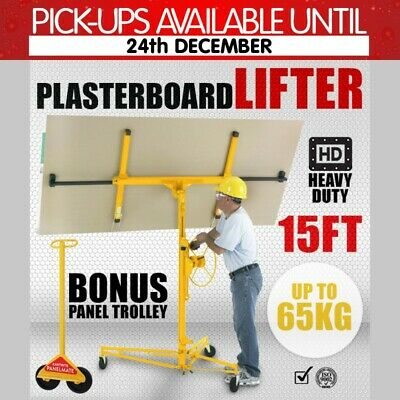 15ft PLASTERBOARD LIFTER PLASTER DRYWALL SHEET PANEL LIFT BOARD HOIST + TROLLEY