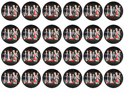 One Direction Cupcake Edible Icing Party Cake Topper Decoration Image Custom