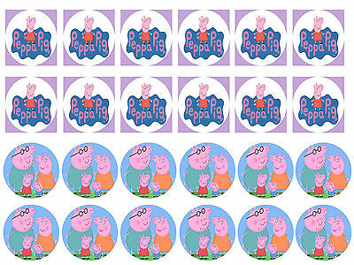 Peppa Pig 3 Cupcake Edible Icing Party Cake Topper Decoration Image