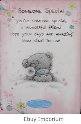 New Me To You Tatty Teddy Friendship Card With Env - Someone Special - Rrp $4.95