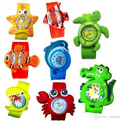 1x BOY or GIRL KIDS SLAP ON SNAP BAND SILICONE RUBBER BAND WRIST WATCH UK SELLER