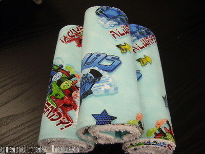 Thomas and Friends Burp Cloths Set of 3 Toweling Backed GREAT GIFT IDEA!!