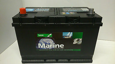 2x 12V 100AH Lucas LM26MF Deep Cycle Marine Battery for Boat ; Boat-Home ; Yacht