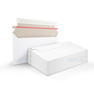 50 #01 Card Mailer 160x230mm - C5 A5 White 300gsm Envelope Tough Bag Replacement