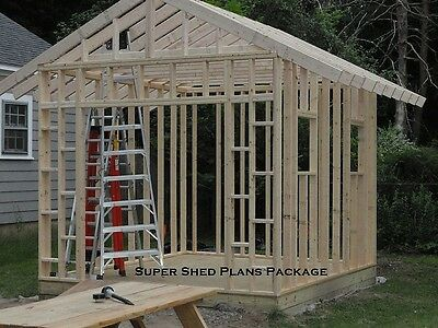 Custom Design Shed Plans, 6x8 Gable Storage, DIY Instructions and Blueprints