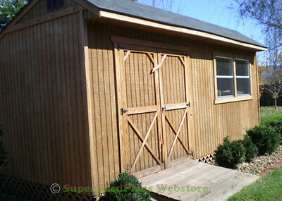 Custom Design Shed Plans, 12x16 Gable Storage, DIY Wood Shed Plans Set on CD