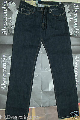 NWT Abercrombie & Fitch A&F ANF Men's Slim Straight Jeans Size 32 x 34 Jean