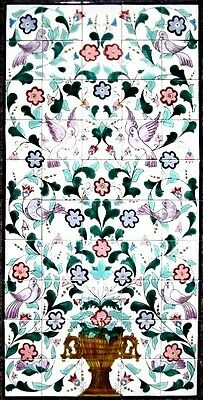 Large Decorative Ceramic Tiles: Mosaic Panel Hand Painted Home Bath Wall Mural