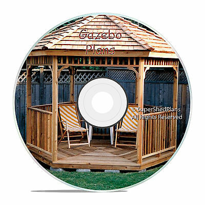 Professional Design Gazebo Plans, 10ft Hexagon Gazebo, How To Build it Yourself