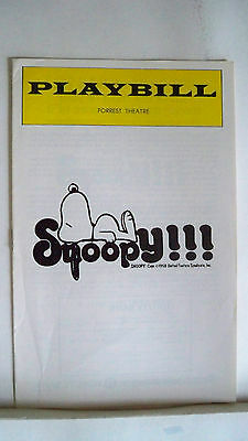 SNOOPY Playbill DON POTTER / GARY IMHOFF Early Production PHILADELPHIA 1976