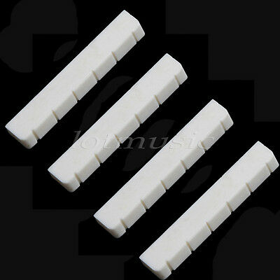 New 4 pcs Real Bone Bridge Nut 6 String Up-Saddle For Classical Guitar