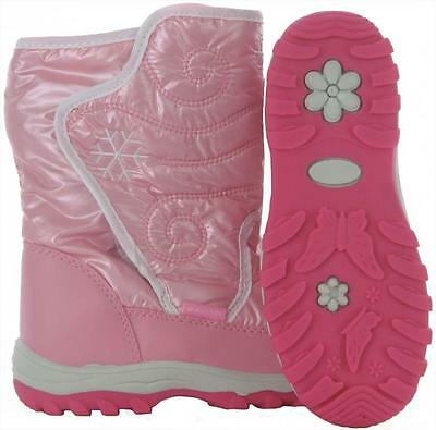 034218 SPORTS DEAL Rucanor Snow Fun Childrens Snow Boots - Pink - REDUCED TO £10
