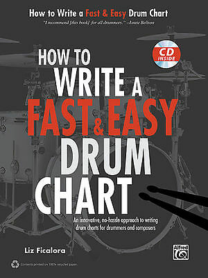 How to Write a Fast & Easy Drum Chart Bk&CD