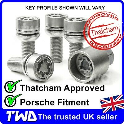 HIGH SECURITY ALLOY WHEEL LOCKING BOLTS PORSCHE BOXSTER 986 987 981 NUTS [T0e]