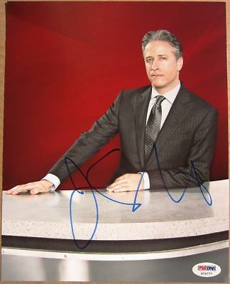 Jon Stewart signed 8x10 photo Daily Show PSA/DNA autograph